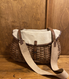 French Canvas basket bag