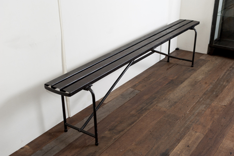 Long Metal Bench