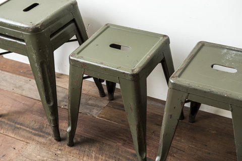 TOLIX Stool FRENCH ARMY